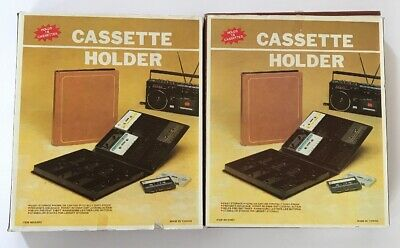 Cassette Tape Holder 16 ct vintage NEW folder snap in out #6980 Taiwan Lot Of 2
