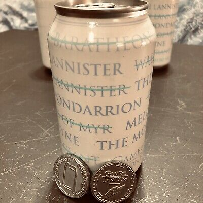 GAME OF THRONES Exclusive Mountain Dew A Can Has No Name Soda + Set 2 coins (NYC