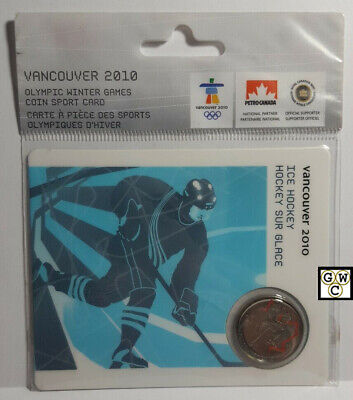 Vancouver 2010 Olympic Winter Games Coin Sport Card - Ice Hockey (OOAK)
