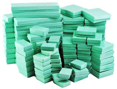 Teal Blue Cotton Filled Jewelry Boxes  Lots of 25-50-100