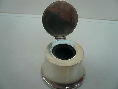Silver Inkwell, Sterling, Antique, English, Hallmarked 1904