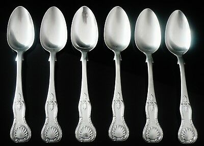 6 Scottish Provincial Silver Teaspoons, Andrew Swan of STIRLING 1856