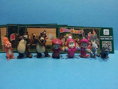 Kinder - Mascha and the Bears 2. complet set  + all Bpz Georgien