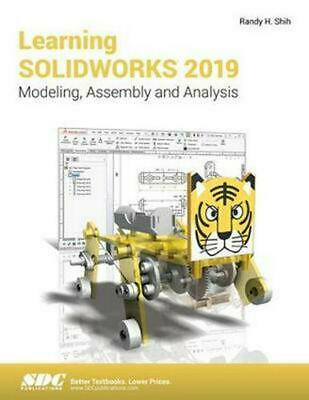 Learning Solidworks 2019 by Randy Shih Paperback Book Free Shipping!