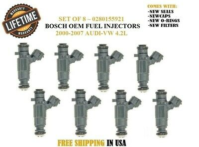 *Lifetime*Genuine Bosch Set Of 4 Fuel Injectors for Ford Mazda Mercury 2.0 USA