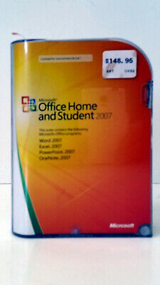 Excellent Microsoft MS Office 2007 Home and Student for 3 PCs Full Retail Box