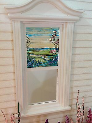 Winding River Dollhouse Miniature Stained Glass Window film