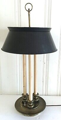 VTG Frederick Cooper 30 in Bouillotte Candle French Brass Lamp Metal Tole Shade