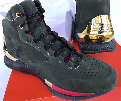 103408feed733 Under Armour UA Curry 1 Lux Mid Suede 1296617-330 Basketball Shoes Men s  8.5 new