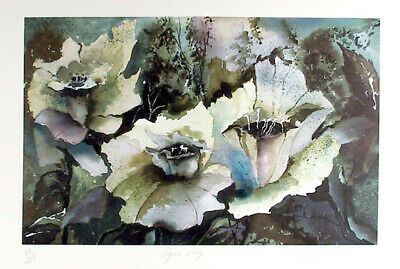 Susan Winter, Agua Lily, Lithograph