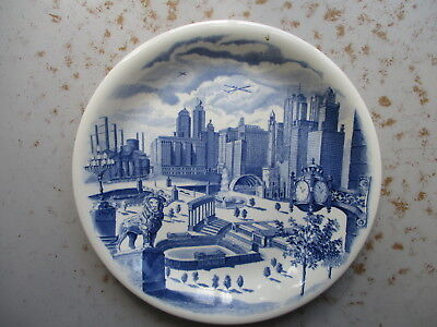 Vintage Marshall Field & Company Souvenir Chicago Plate, Johnson Bros. UK 1940s?