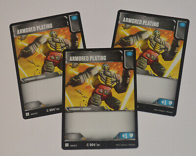 TRANSFORMERS TCG Wave 2 // 3-Card Playset = C 004 Armored Plating