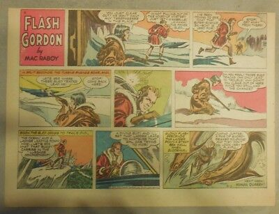 Flash Gordon Sunday Page by Mac Raboy from 2/5/1956 Half Page Size