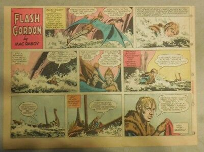 Flash Gordon Sunday Page by Mac Raboy from 10/28/1956 Half Page Size