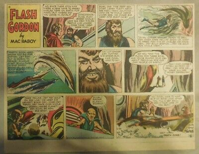Flash Gordon Sunday Page by Mac Raboy from 2/26/1956 Half Page Size