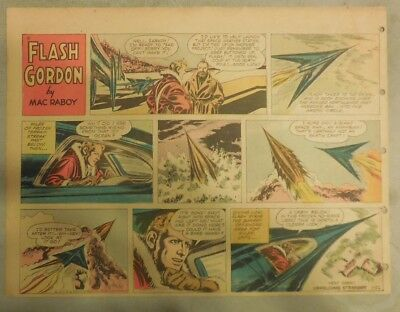 Flash Gordon Sunday Page by Mac Raboy from 1/22/1956 Half Page Size