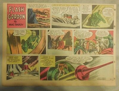 Flash Gordon Sunday Page by Mac Raboy from 4/1/1956 Half Page Size
