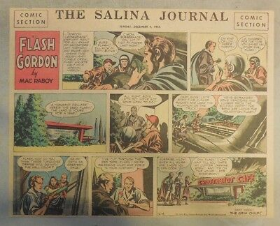 Flash Gordon Sunday Page by Mac Raboy from 12/4/1955 Half Page Size