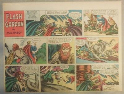 Flash Gordon Sunday Page by Mac Raboy from 3/20/1955 Half Page Size