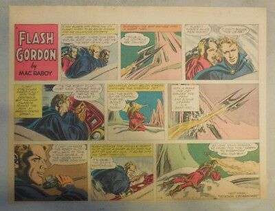 Flash Gordon Sunday Page by Mac Raboy from 11/6/1955 Half Page Size