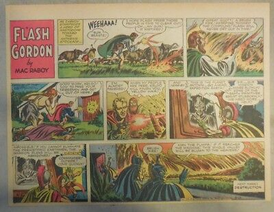 Flash Gordon Sunday Page by Mac Raboy from 3/13/1955 Half Page Size