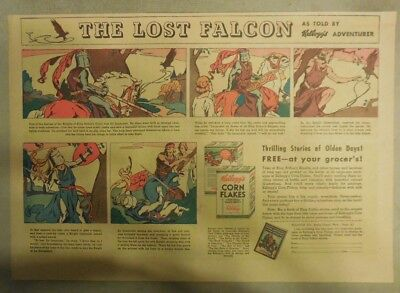 Kellogg's Cereal Ad: The Lost Falcon ! 1930's Size:11 x 15 inches