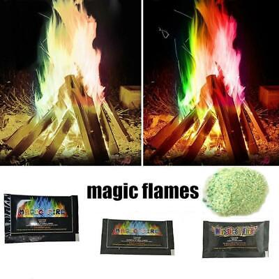 25g Mystic Fire Magic Tricks Colorful Flames Toy Game Powder Bonfire For Outdoor