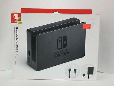 Genuine Nintendo Switch Charging Dock + AC Adapter Power Cable + HDMI Set