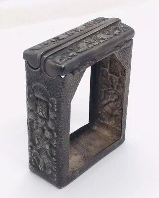 Chinese Export Antique Sterling Silver Floral Cigarette Pack Holder Case
