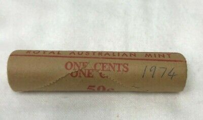 1974 1c COIN MINT ROLL - one Cent-   Royal Australian Mint-  H/H