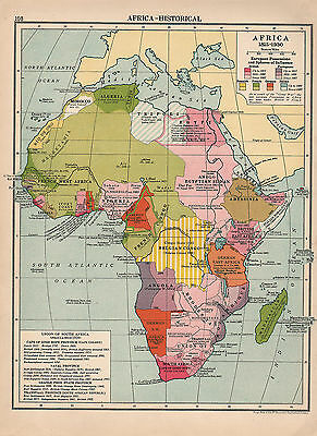 1929 Map ~ Africa Historical ~ Showing European Possessions