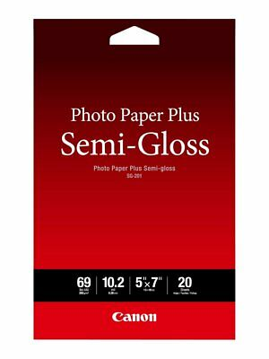"Canon Photo Paper Plus SemiGloss Resists Fingerprint 5"" x 7"" 20Sheets SG-201 5X7"