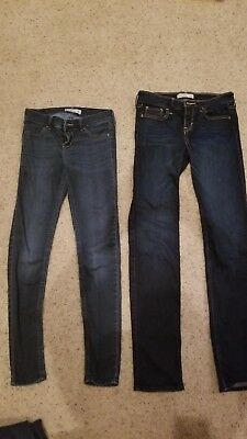 3ebace116b686 Lot of 2 Abercrombie & Fitch Kids Girls Sz 16 Skinny Jeggings and 16 Slim  Jeans