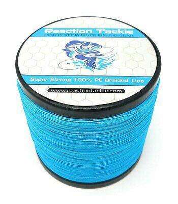 Reaction Tackle High Performance Braided Fishing Line / Braid - Sea Blue