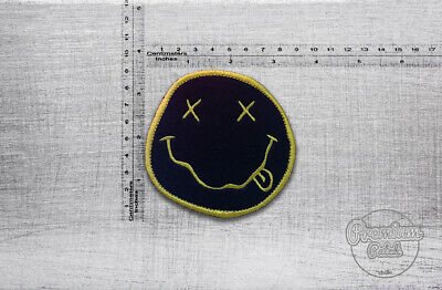"""Nirvana smile embroidered patch 9cm x 9cm /  3,5"""" x 3,5"""""""