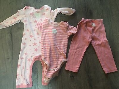 NEW Burts Bees Baby Baby Girl Exploded Petal Dress//Footed Pant Set 3//6 6//9 Month