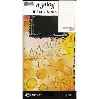"Dyan Reaveley's Dylusions Dyalog Insert Book 4.375""X8.25"" - Handwriting Lines #2"