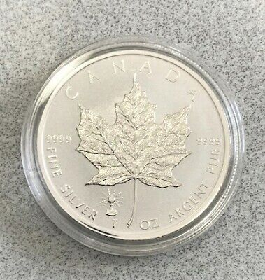 2018 Silver Maple Leaf Reverse Proof Light Bulb Privy $5 coin 9999 pure