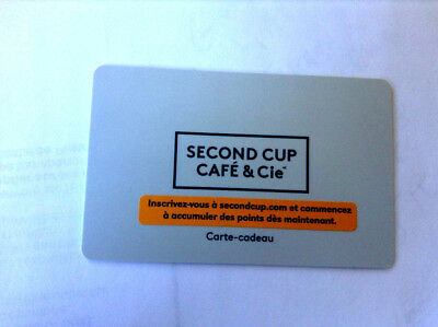 SECOND CUP COFFE SHOP COLLECTIBLE Gift Card New No Value ZERO BALANCE