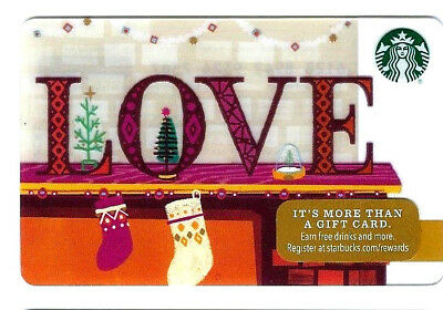2016 Starbucks Love Gift Card No Value Mint Bilingual Rechargeable