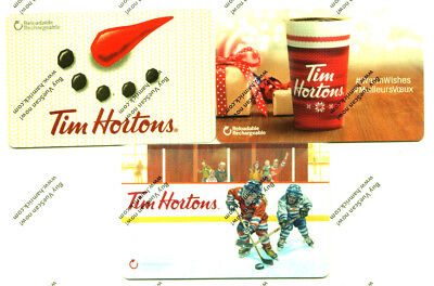 TIM HORTON'S Gift Card Holiday Winter X3 RECHARGEABLE