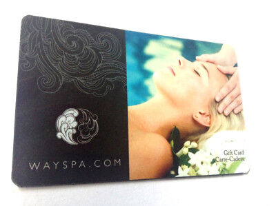 """WAYSPA GIFT CARD """" RELAX YOUR MIND """" NO VALUE NEW! RECHARGEABLE (ship rightaway)"""