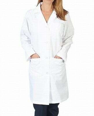 Natural Uniforms NEW White Women's USA 2XL Belted Pocketed Unisex Lab Coat #499