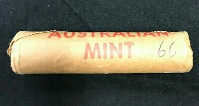 1966 1c COIN MINT ROLL - one Cent-   Royal Australian Mint-  H/T