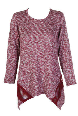 3653ab93747 STYLE   CO Plus Size Space-Dyed Fair Isle Red Sweater Size 0X 1X 2X ...