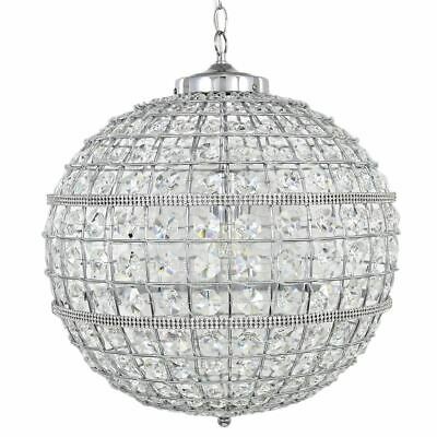 Vienna Large Clear Cut Glass  Ceiling Light - Big Living