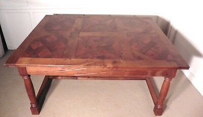 A French Fruitwood Parquetry Table, Very heavy, Top Quality
