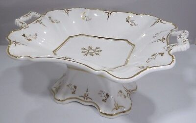 Antique Victorian Ceramic Tazza Serving Dish with Gilt Decoration