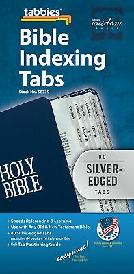 Tabbies Silver-Edged Bible Indexing Tabs Old & New Testament 80 Tabs Including