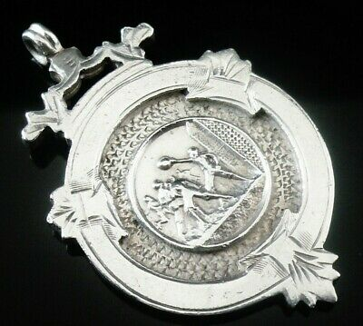 Silver Pocket Watch Fob Medal, FATTORINI, Football, Birmingham 1908
